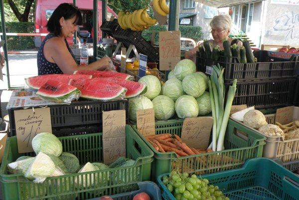 Najnavštevovanejšia tržnica v Prievidzi je na sídlisku Píly pri Magure.