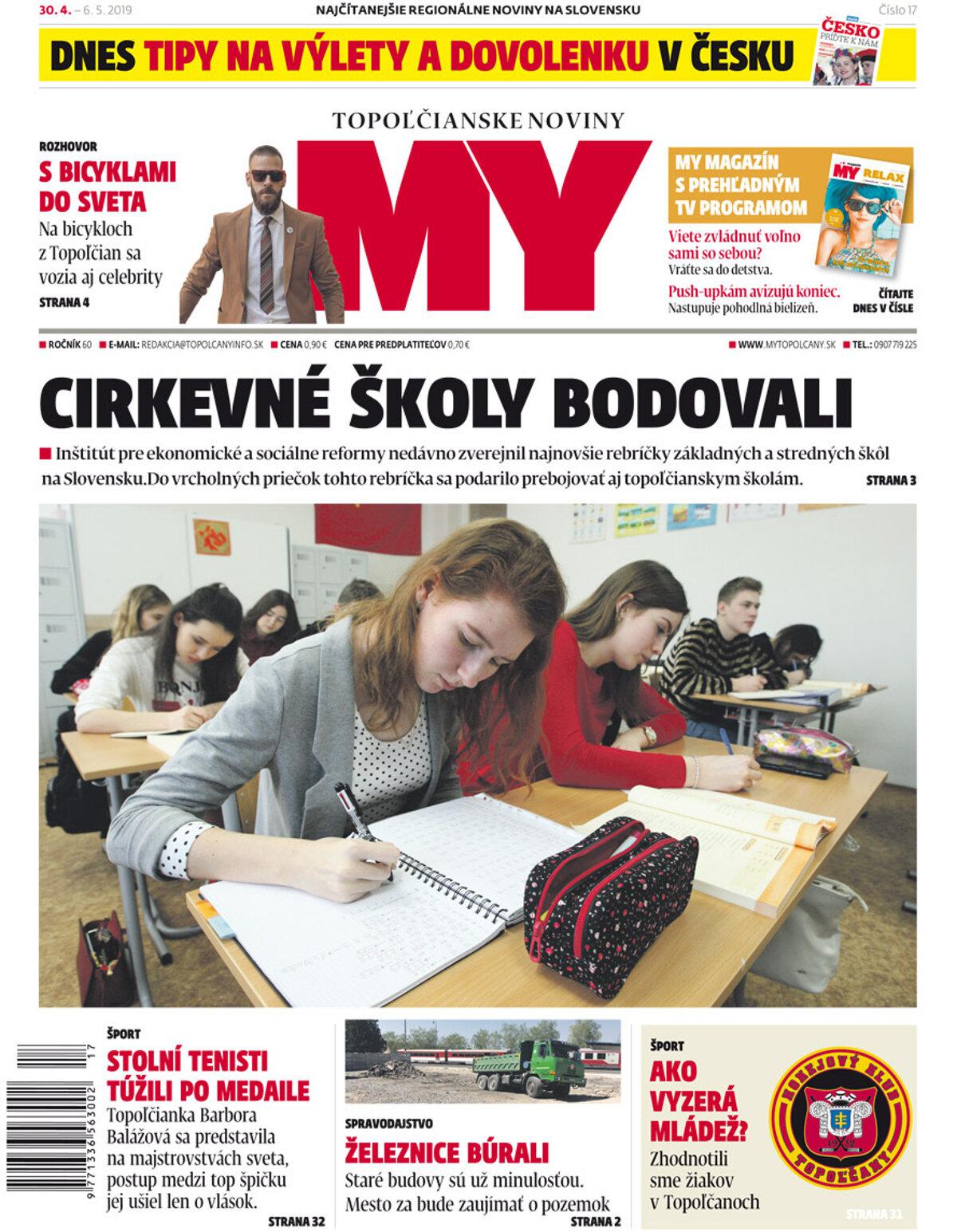 96f2b9592 Vyšlo ďalšie číslo MY Topoľčianskych novín Dnešok