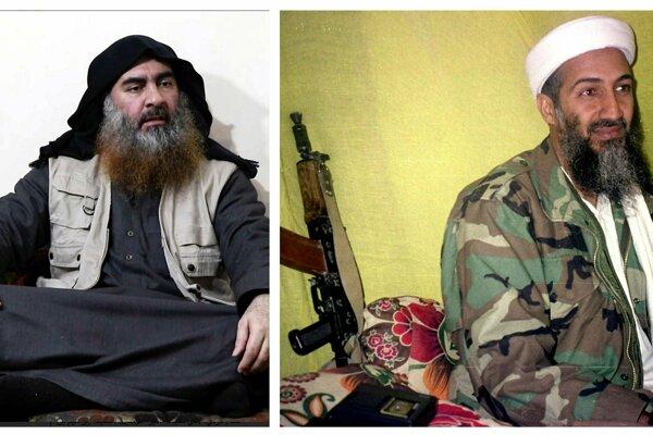 Abú Bakr Bagdádí a Usáma bin Ládin.