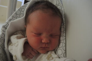 Alexandra Paliesková (3730 g, 50 cm) sa narodila 22. apríla Lenke a Jozefovi z Košece.