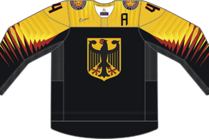Dres Nemecka určený pre zápasy, v ktorých je napísané ako hosťujúci tím.
