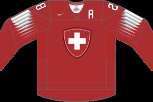 Dres Švajčiarska určený pre zápasy, v ktorých je napísané ako hosťujúci tím.