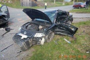 Nehoda sa stala za Detvianskou Hutou v smere na Látky.