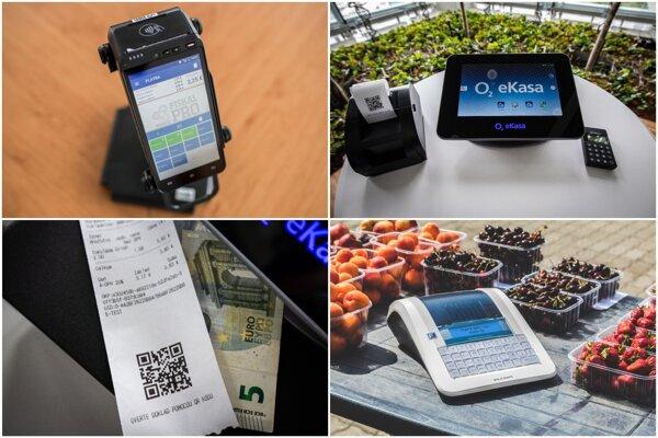 Online pokladnice môže byť dotyková a môže v sebe kombinovať aj platobný terminál či skener kódov.