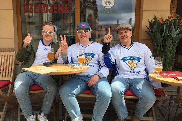 Zľava Aku Rinne, Ossi Keisanen a Johanes Rautiainen.