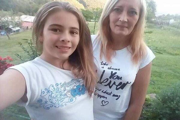 Vanesska so svojou mamou.