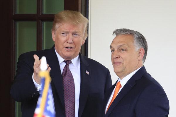Viktor Orbán (vpravo) sa nedávno stretol s americkým prezidentom Donaldom Trumpom.