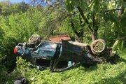 Nehoda pri obci Podbranč.