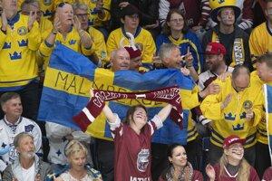d6c37a6fdfb0e MS v hokeji: Momentky zo zápasu Švédsko - Lotyšsko (14 fotografií)