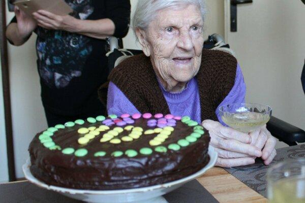 Banskoštiavničanka Pavla Popracová oslávila 101 rokov.