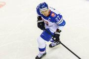 Ladislav Nagy v zápase Slovensko - Dánsko na MS v hokeji 2019.