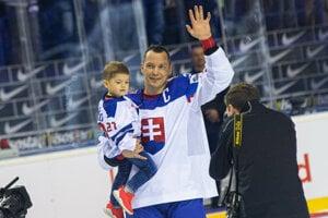Ladislav Nagy sa lúči s hokejom po zápase Slovensko - Dánsko na MS v hokeji 2019.