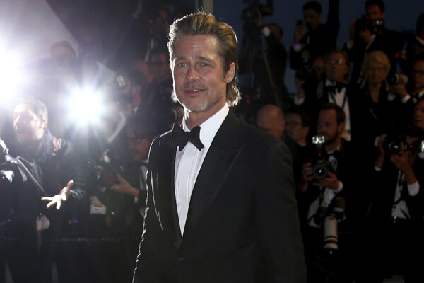 Brad Pitt v Cannes na premiére filmu Once Upon a Time... In Hollywood.