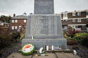 Pamätník Krvavej nedele na mieste, kde sa masaker v roku 1972 odohral.
