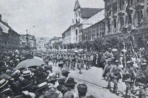 Druhý príchod česko-sloveského vojska do Košíc.