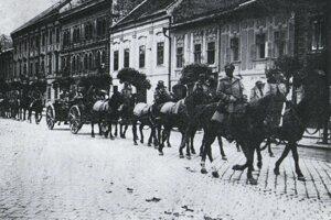 Príchod maďarskej Červenej armády do Košíc 6. júna 1919.
