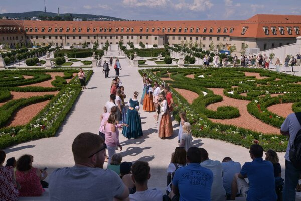 Baroková záhrada na bratislavskom hrade.