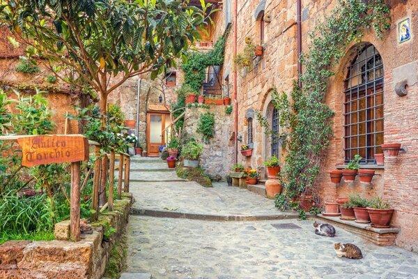 Typické uličky v toskánskych dedinkách