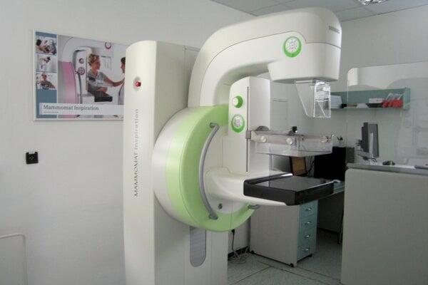 Mamograf v Nemocnici s poliklinikou sv. Jakuba v Bardejove.