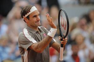Roger Federer na Roland Garros 2019.