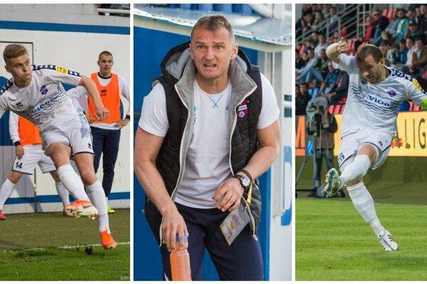 Aj Jakub Švec (vľavo), Karol Praženica a Tomáš Ďubek (vpravo) písali úspešnú, 7-výhrovú, jar FC ViOn, ktorá znamenala zotrvania vo Fortuna lige.