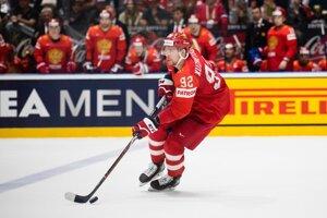 Jevgenij Kuznecov počas zápasu o bronz Rusko - Česko na MS v hokeji 2019.