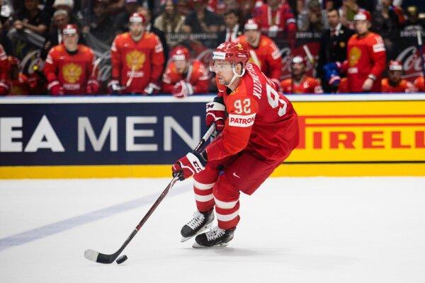 Jevgenij Kuznecov na MS v hokeji 2019.