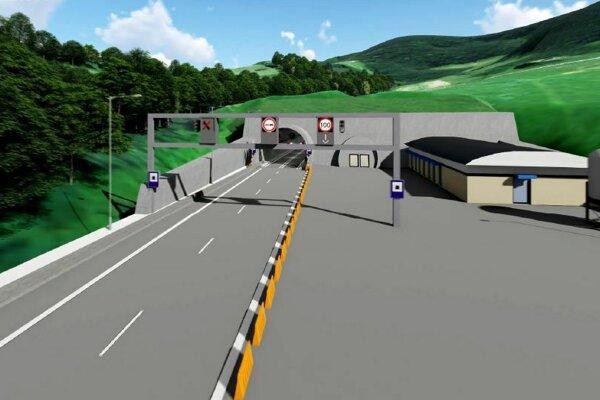 Vizualizácia budúceho tunela.