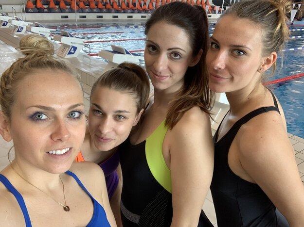 Zľava: Kika, Veronika, Tamara a Saša