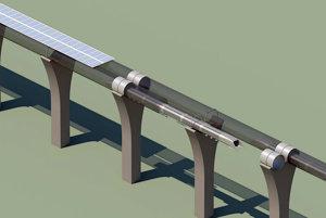 Koncept hyperloopu od spoločnosti SpaceX.
