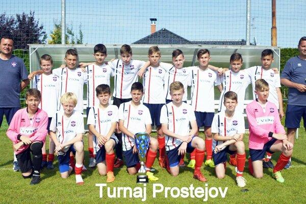 Mladší žiaci PFA ViOn U13 na turnaji v Prostějove.