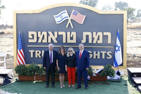 Nová osada nesie názov Ramat Trump, čo v preklade z hebrejčiny znamená Trumpove výšiny.