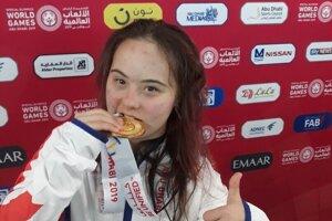 Vanda Kračunová sa na Špeciálnych olympijských hrách tešila  zdvoch zlatých medailí.