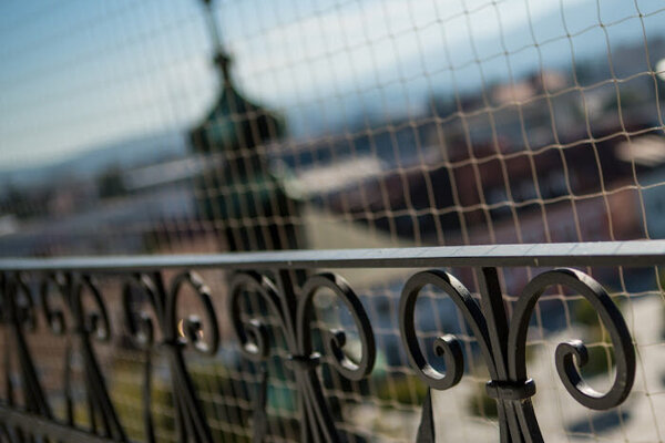 Z balkóna kostolnej veže.