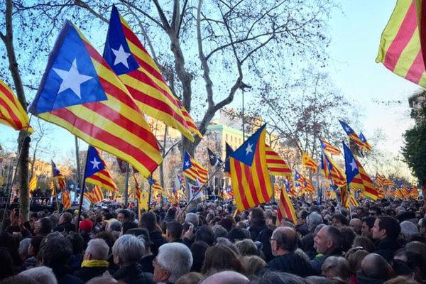 Demonštrácia za oslobodenie katalánskych lídrov
