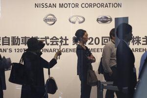 Stretnutie akcionárov Nissanu.