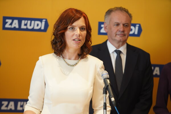 Veronika Remišová a Andrej Kiska.
