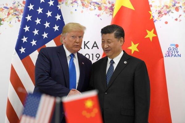 Prezident USA Donald Trump a čínsky prezident Si Ťin-pching.