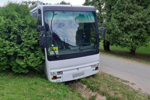 Autobus zastal v jarku.