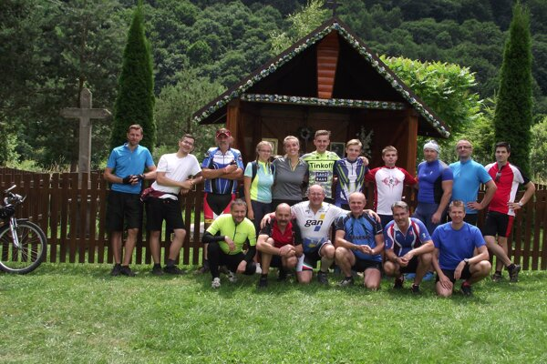 Tohtoroční účastníci cyklopúte do Levoče.
