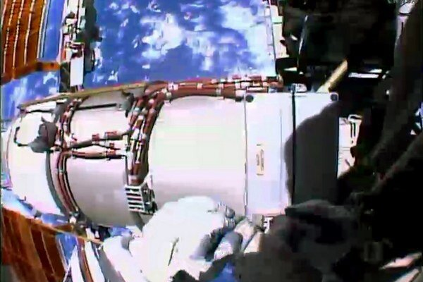 Na Medzinárodnej vesmírnej stanici.