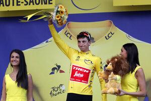 Giulio Ciccone v žltom drese pre lídra Tour po 6. etape Tour de France 2019.