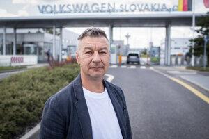 Zoroslav Smolinský, predseda Moderných odborov v bratislavskom závode Volkswagen.