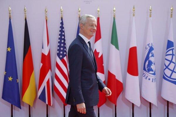Francúzsky minister financí Bruno Le Maire počas stretnutia ministrov financií skupiny G7 v Chantilly.