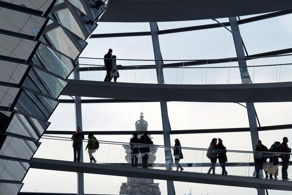 Reichstag v Berlíne.