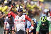 Peter Sagan (vpravo) skončil na 4. mieste v 16. etape na Tour de France 2019. Etapu vyhral Caleb Ewan.