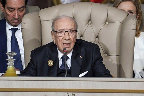 Tuniský prezident Bádží Káid Sabsí.