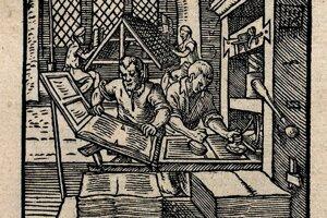 Kníhtlačiar, Der Buchdrucker Panoplia omnium illiberalium mechanicarum