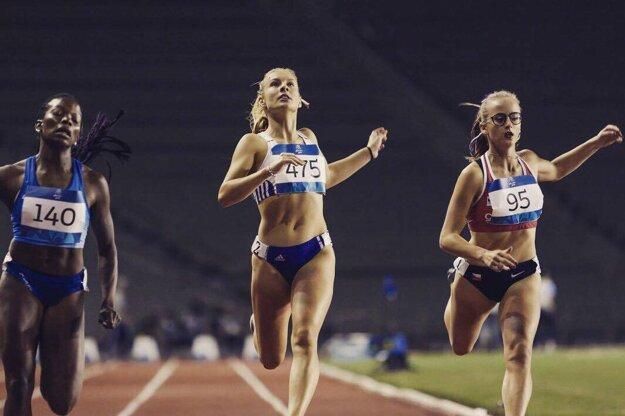 Talentovaný šprintérka Viktória Forster potešila svojimi výkonmi v Baku.