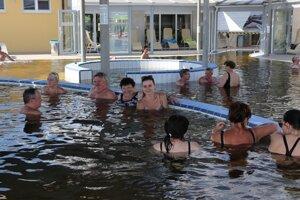 Termálna voda má až 39 stupňov Celzia.